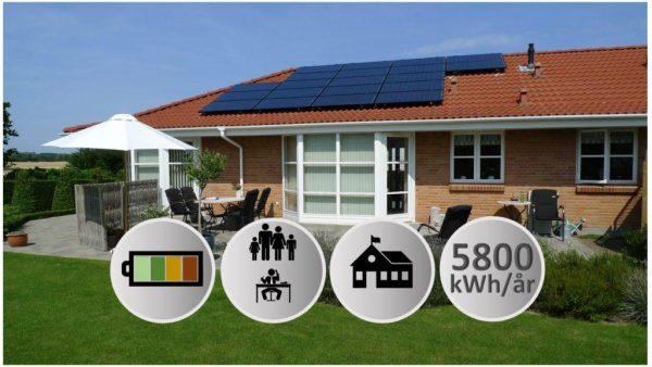 solcelleanlæg 6kW solceller med battei