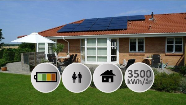 solcelleanlæg 3kW solceller med batteri