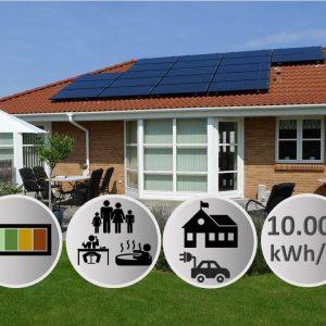 solcelleanlæg 10kW solceller med solceller